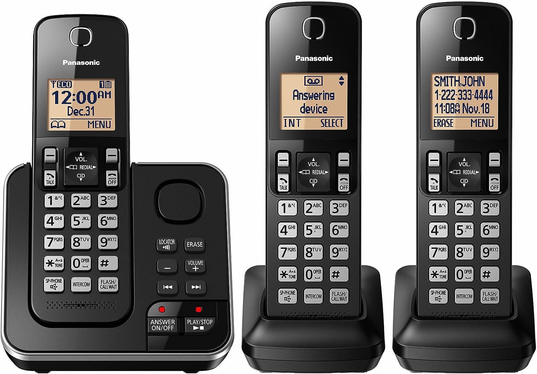 PANASONIC KX-TG633SK 6.0 PLUS 3-Handset Expandable Digital Cordless Phone with Answering System