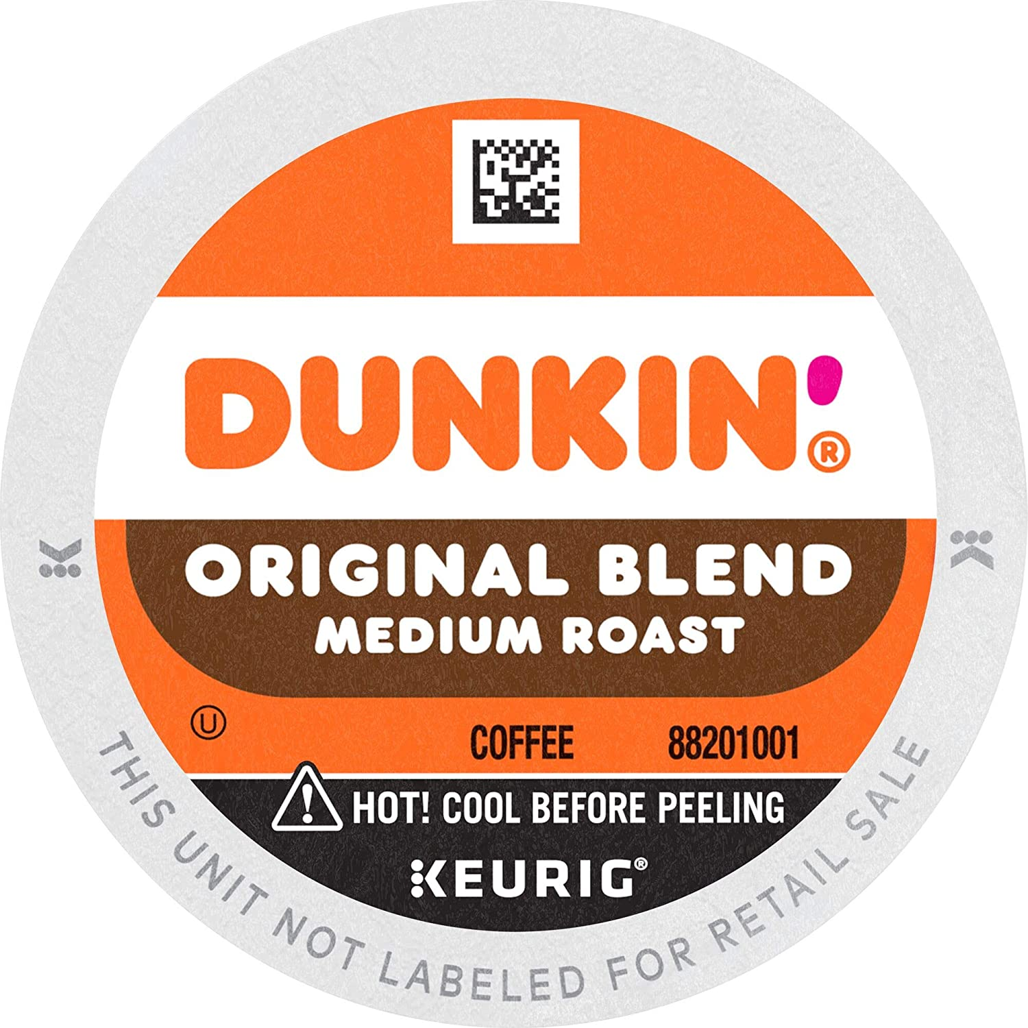 Dunkin' Original Blend Medium Roast Coffee, 32 K Cups for Keurig Coffee Makers