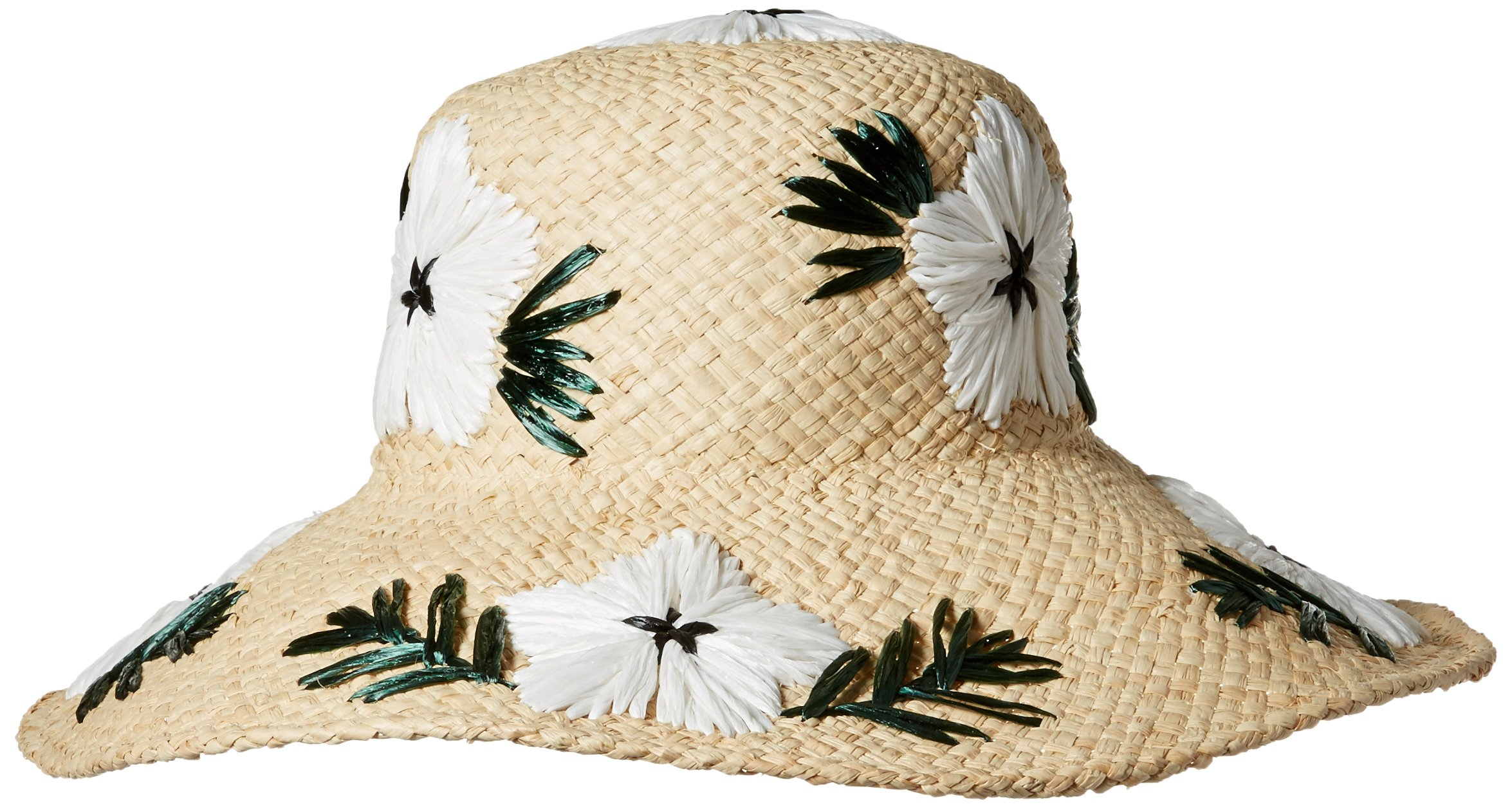 Gottex Women's Punta Cana Raffia Sunhat Packable, Adjustable and Upf Rated, Natural/White, One Size