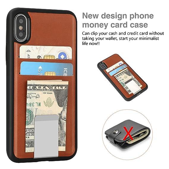 Amazon.com  Vivefox iPhone X Wallet Case a60f52287f9dc
