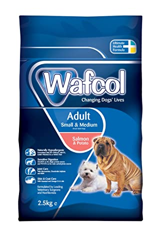 Wafcol Adult Sensitive Dog Food Salmon Potato Grain Free Dog Food For Small And Medium Breeds 25 Kg Pack