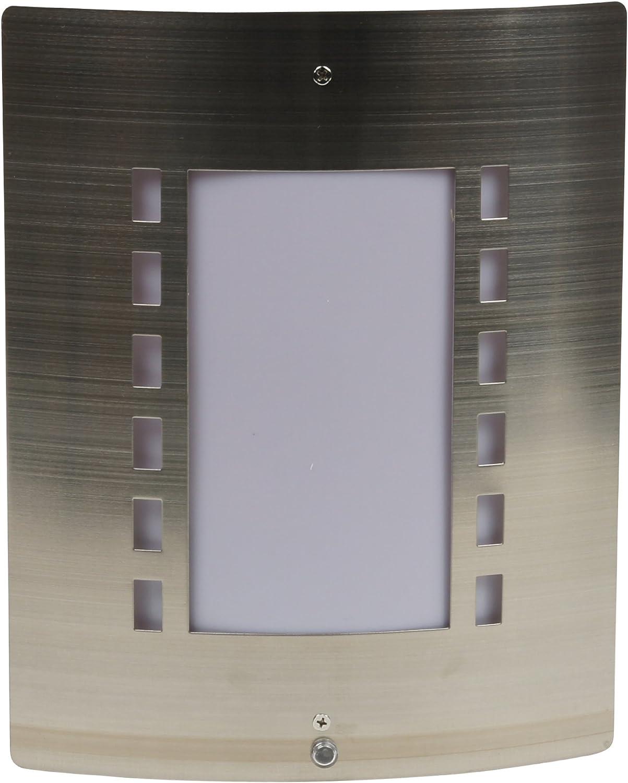 Ranex Messina all/'aperto IP44 Acciaio Inox Luce Parete con sensore di movimento PIR