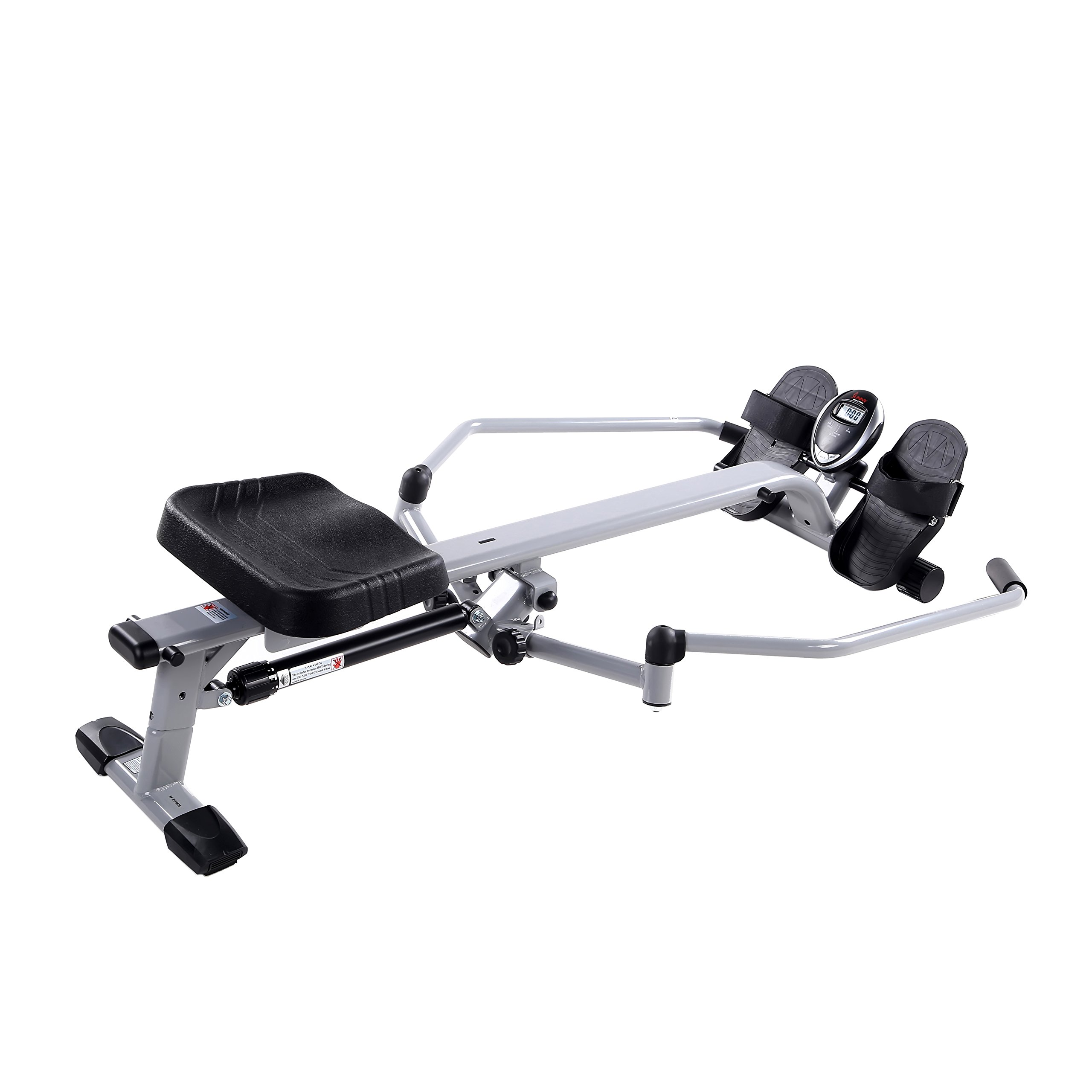 Sunny Health & Fitness SF-RW5639 Full Motion Rowing Machine Rower w/ 350 lb Weight Capacity and LCD Monitor by Sunny Health & Fitness (Image #2)