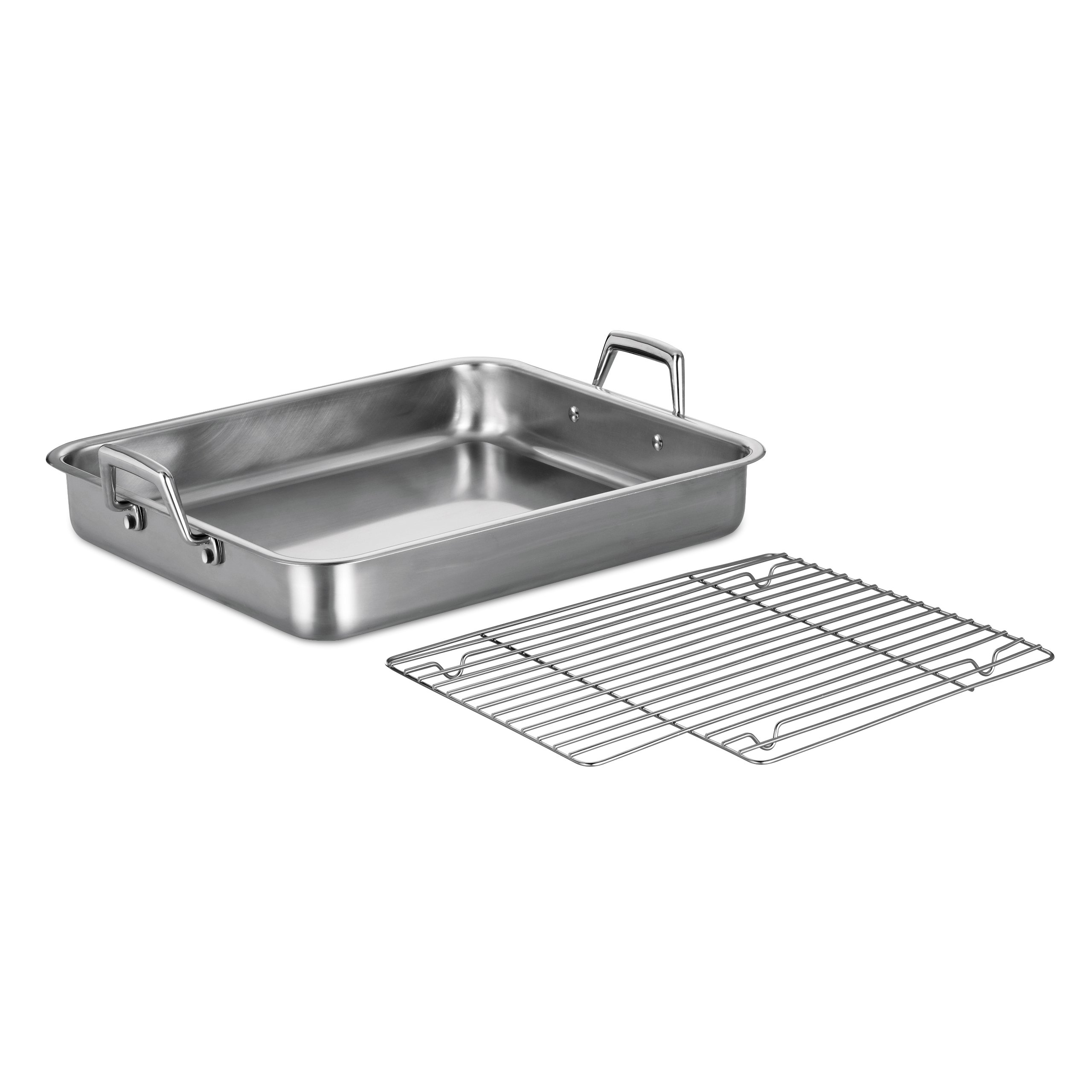 Tramontina 80203/005DS Gourmet Prima 16.5-Inch Rectangular Roasting Pan with Basting Grill, Large, Stainless Steel by Tramontina