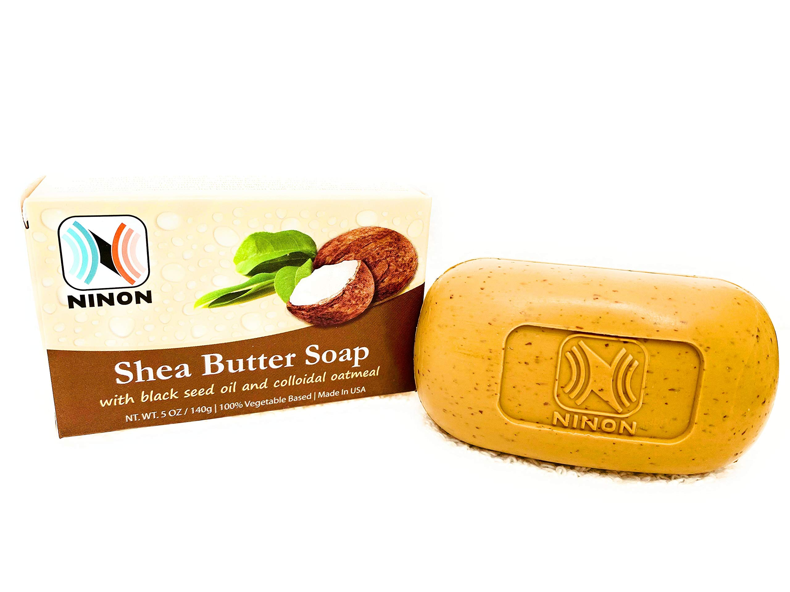 Ninon Shea butter soap with black seed oil & Collodal oatmeal - 6 Pack