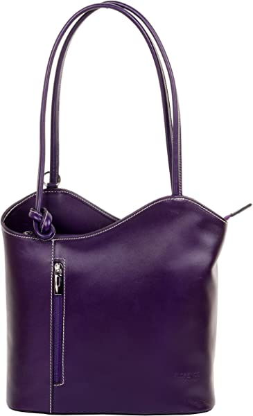 e909f0e3ca78f Primo Sacchi Italienisches Leder handgefertigt lila Handtasche ...
