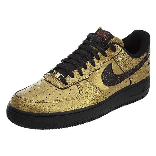 b2fd2b1654 Nike Air Force 1 Tenis Bajas para Hombre, Dorado (Dorado metálico, Negro),  44.5 EU: Amazon.es: Zapatos y complementos