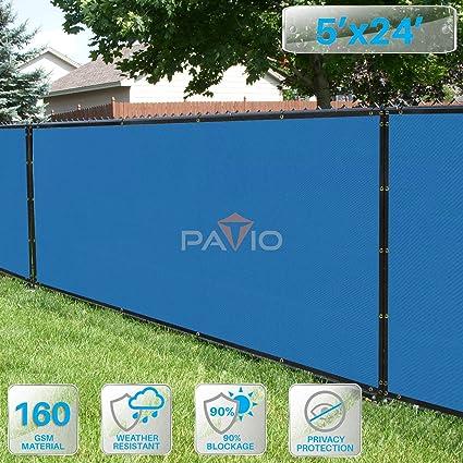 PATIO Fence Privacy Screen 5u0027 X 24u0027, Pergola Shade Cover Canopy Sun Block