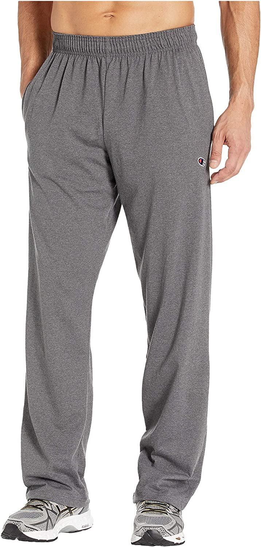 Champion Men's Open Bottom Lightweight Jersey Pant: Clothing