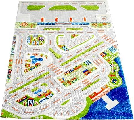 IVI - Alfombra Infantil de Juegos en 3D, diseño de Ciudad: Amazon.es: Bebé
