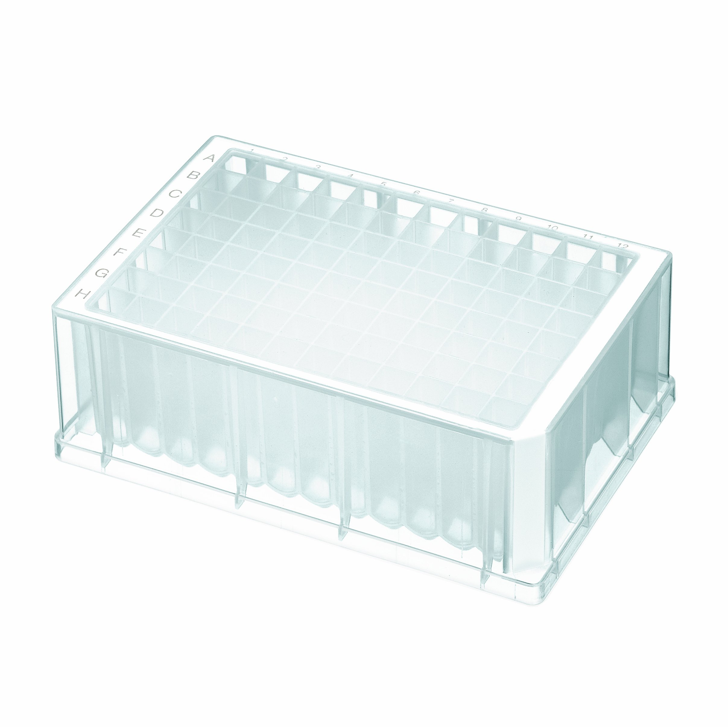 Axygen P-2ML-SQ-C-S Deep Well 96-Well x 2mL Assay Storage Microplate with Square Wells, Clear PP, Sterile (25/Case) by Axygen