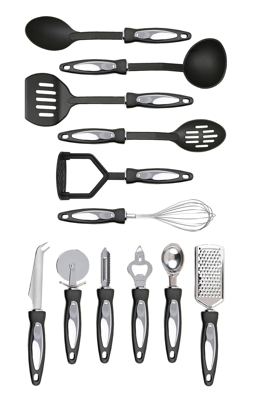 Premier Housewares Acero Inoxidable, 12 Piezas Juego de menaje de Cocina