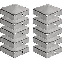10 x Paalkappen voor Afrasteringspalen (120 x 120 mm) Gegalvaniseerd Staal Piramidevormige Afdekkap voor Houten Palen…