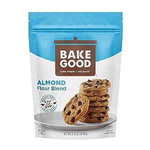 BakeGood Almond Flour Blend, 2lb, 1-to-1 Replacement for All Purpose Flour, Gluten Free, Non-GMO, Kosher