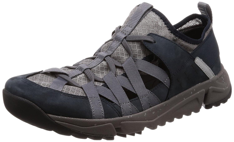 bca8e4b8b846a Clarks Tri Track Flow Nubuck Shoes in Blue: Amazon.co.uk: Shoes & Bags