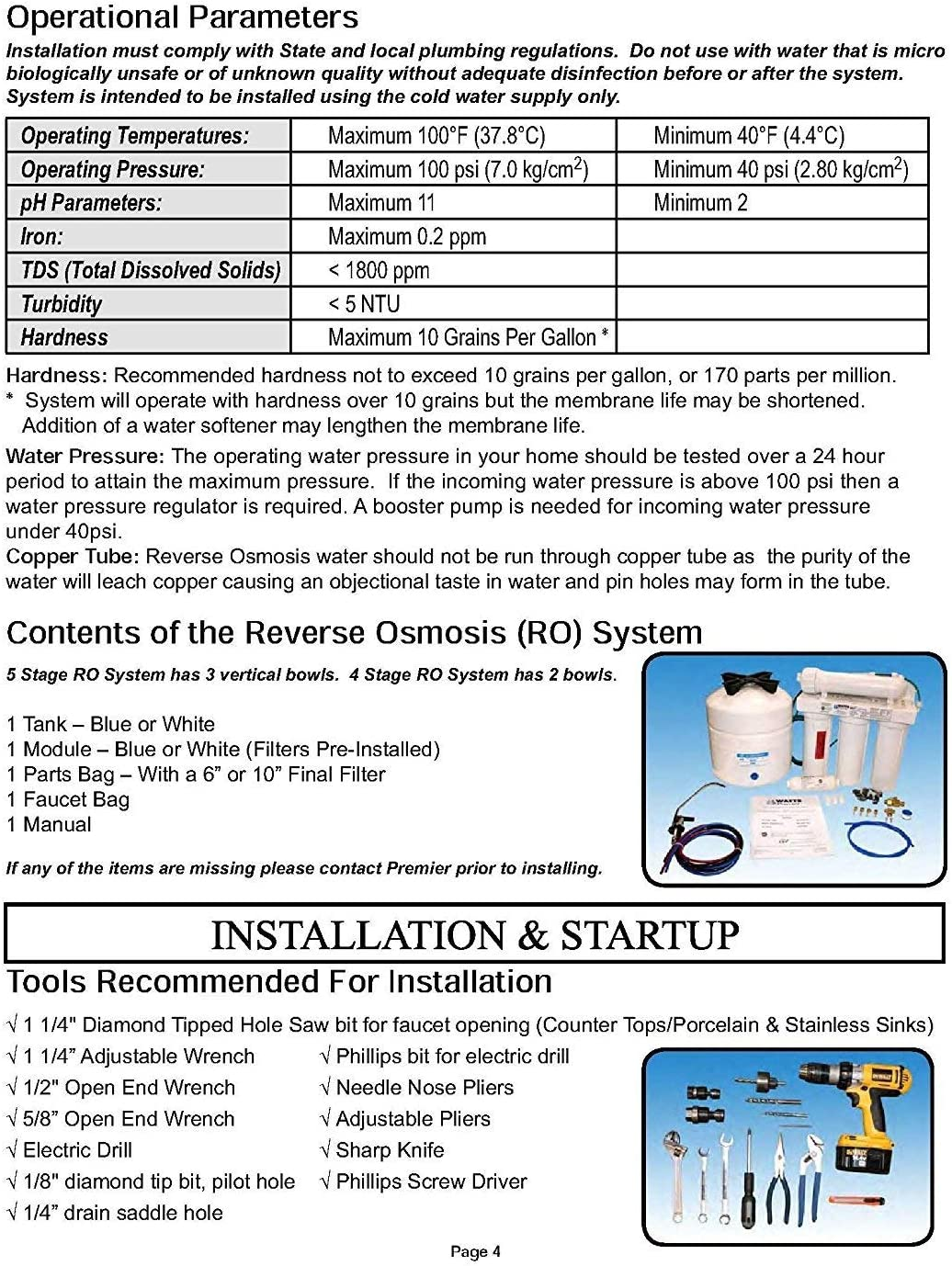 Watts Premier WP500032 Reverse Osmosis System