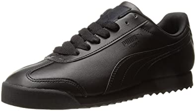 aff513fe PUMA Men's Roma Basic Fashion Sneaker, Black/Black - 6 D(M)