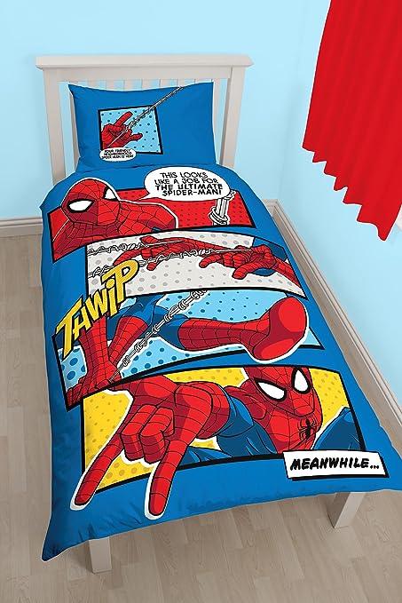 Spiderman Webhead Reversible Panel Single Bed Duvet Quilt Cover Set