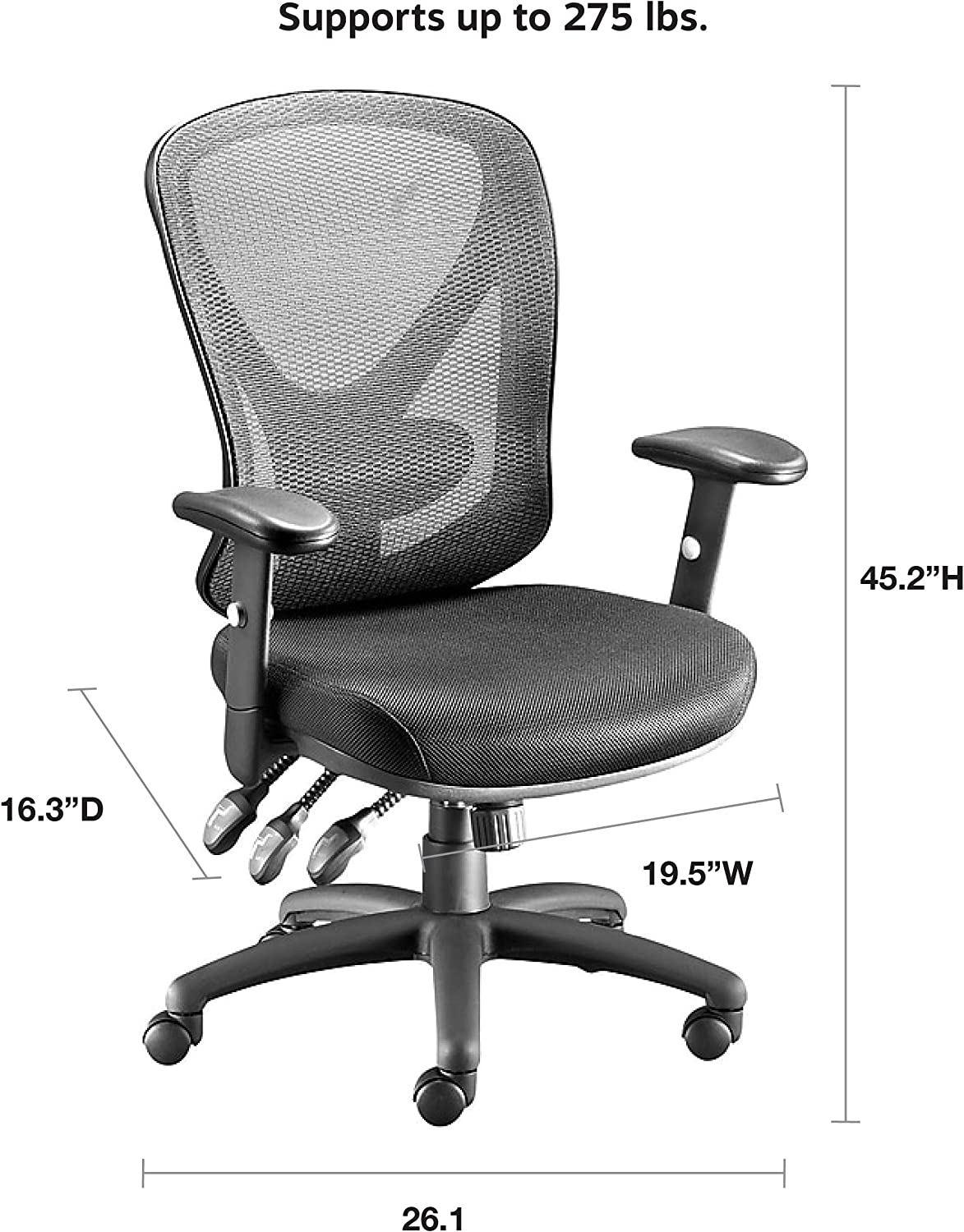 Amazon.com: STAPLES Carder Mesh Office Chair (Black, Sold as 39