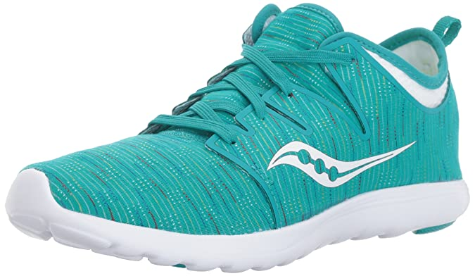 Saucony Women's Eros Sneaker Teal Multi 6.5 Medium US Best Breathable Mesh Running Shoes for Women