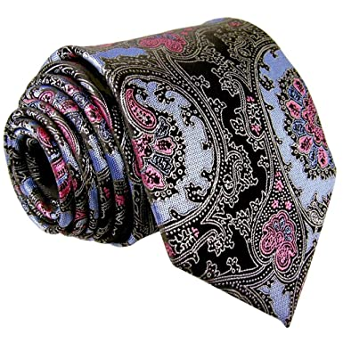 shlax&wing corbata Cachemir rosa negro azul hombres cuello largo ...
