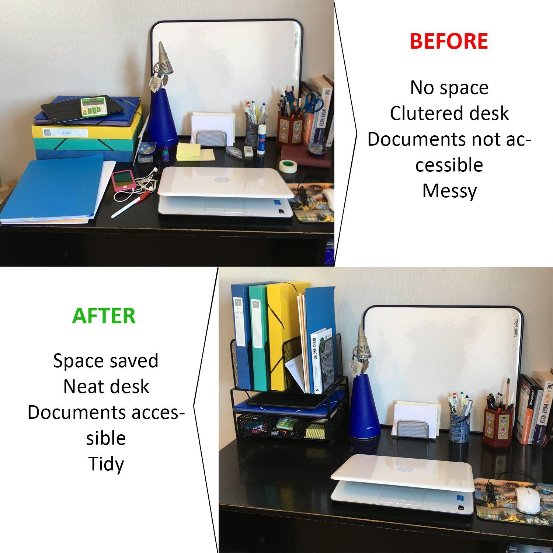 Schreibtisch Organizer Aus Schwarzem Metallgeflecht Ein Robuster