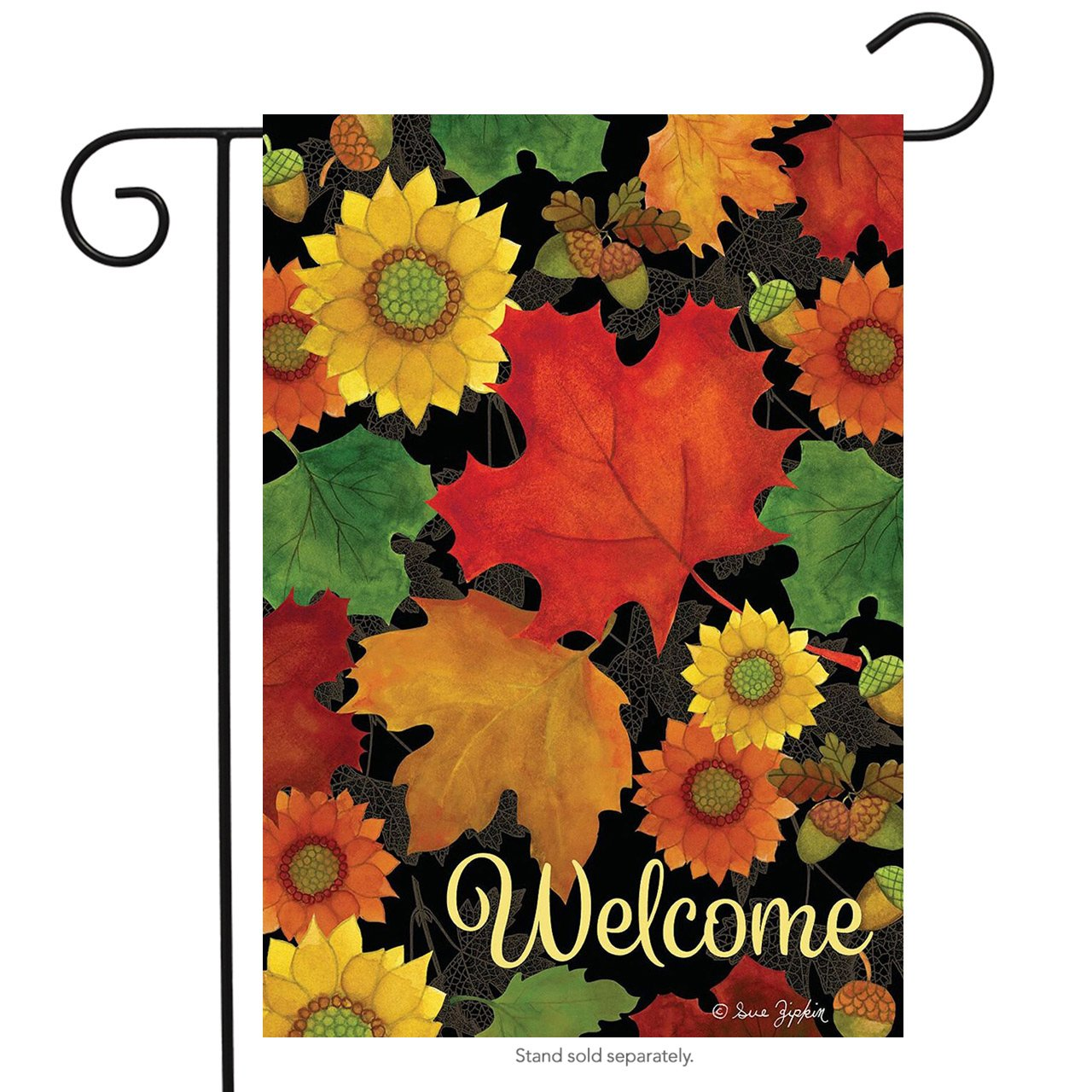 "Briarwood Lane Fall Foliage Welcome Garden Flag Autumn Leaves 12.5"" x 18"""