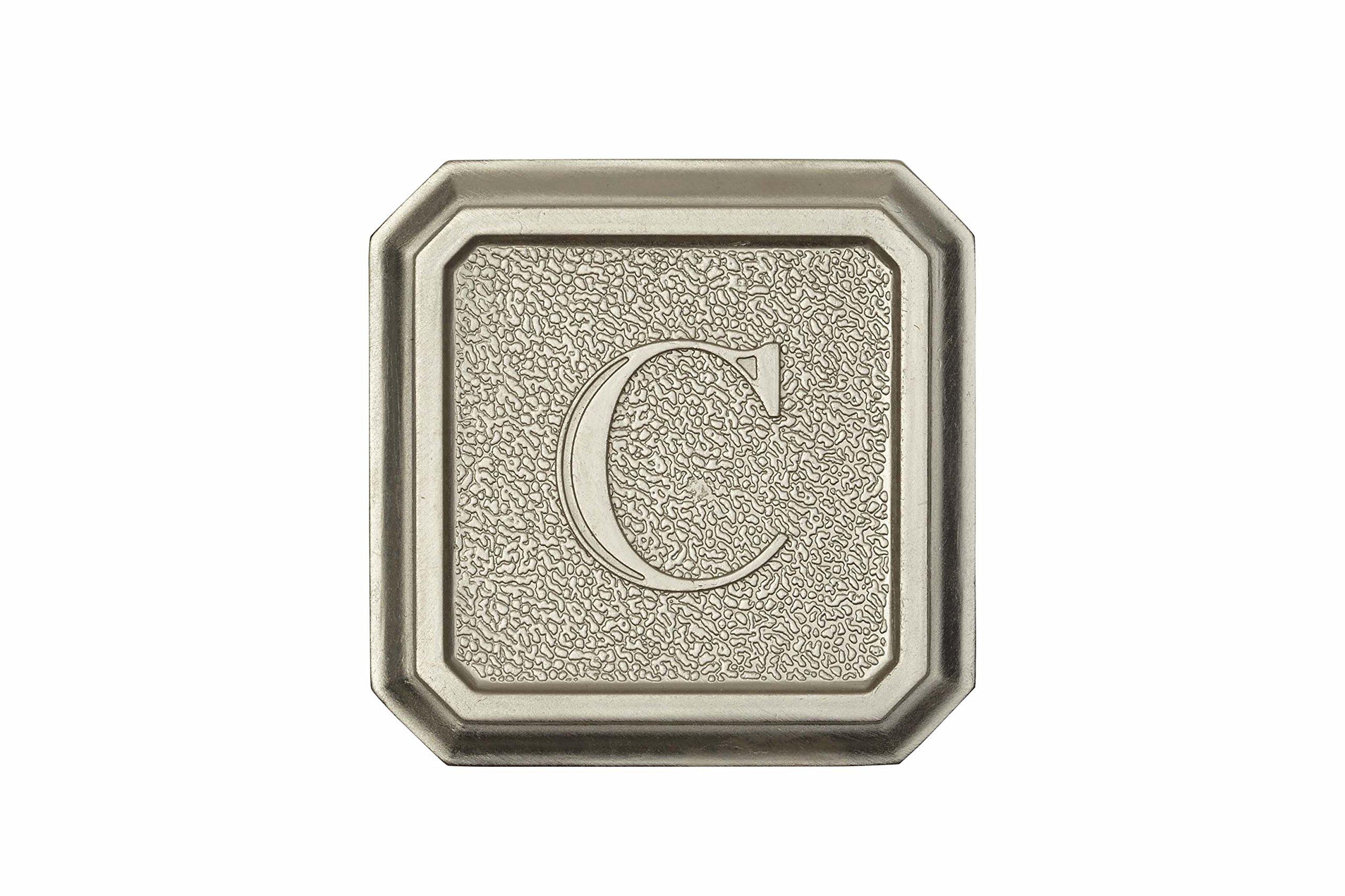 Architectural Mailboxes 3650SN-C Aluminum Satin Nickel Monogram - Letter''C'' by ARCHITECTURAL MAILBOXES