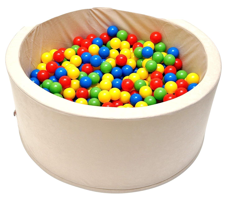 Kugelbad Bällebad Ballpool Kinder-Pool Bällebad mit 200 Bällen 90x30 40 cm hoch