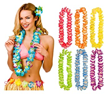 Hawaiian Party Wreath Flower leis Garland Necklace Dress Party Beach UK STOCK