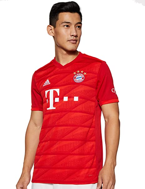 Amazon Com Adidas Fc Bayern Munich 2019 2020 Mens Home Jersey Clothing