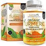 Curcuma Turmeric BIO 600 mg avec Curcumine & Poivre Noir | 120 Capsules Avec Enveloppe Végétale (convient aux végétariens) | Certifié SOIL ASSOCIATION