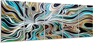 Yihui Arts Abstract Metal Wall Art for Living Room Modern Wall Sculpture Contemporary Aluminum Artwork for Indoor and Outdoor Decor