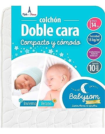 Babysom - Colchón Cuna Bebé Doble cara - 60 x 120 cm - Verano/Invierno