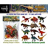 TOY-STATION - Exclusive Animal Play Sets (Walking with Dinosaurs - Animal PLAYSET Learning Games for Boys Girls Kids Toddlers - 12 PCS Big Set)