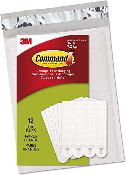 Large by Command Command Picture /& Frame Hanging Strips 24 Pair
