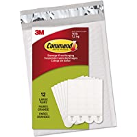 Command Picture & Frame Hanging Strips Value Pack, Large, White, 12-Pairs in Easy to Open Packaging