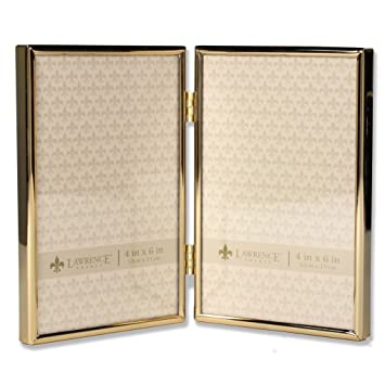 Buy Lawrence Frames 4x6 Hinged Double Simply Gold Metal Picture