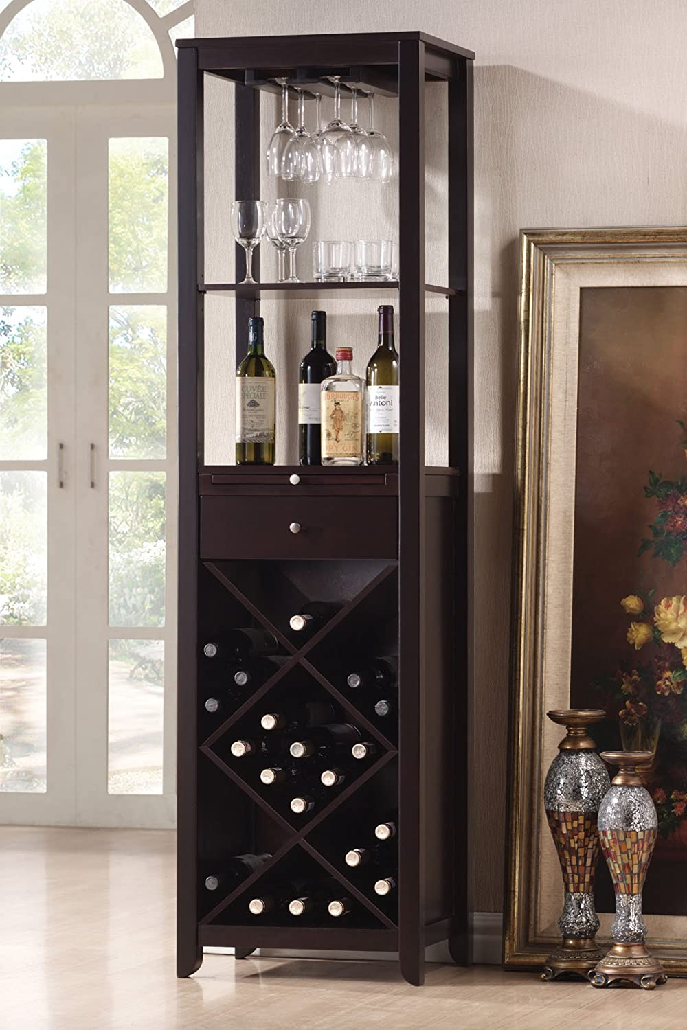 Elegant Amazon.com: Acme 12244 Casey Wine Cabinet Set, Wenge Finish: Kitchen U0026  Dining Part 23