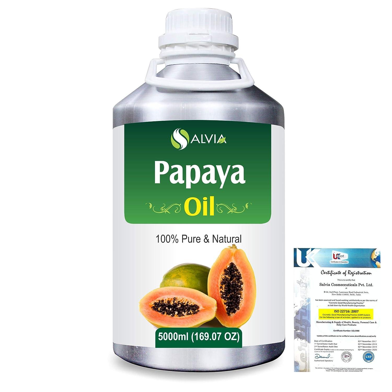 Papaya (Carica papaya) Natural Pure Undiluted Uncut Carrier Oil 5000ml/169 fl.oz. B07R4X329Y