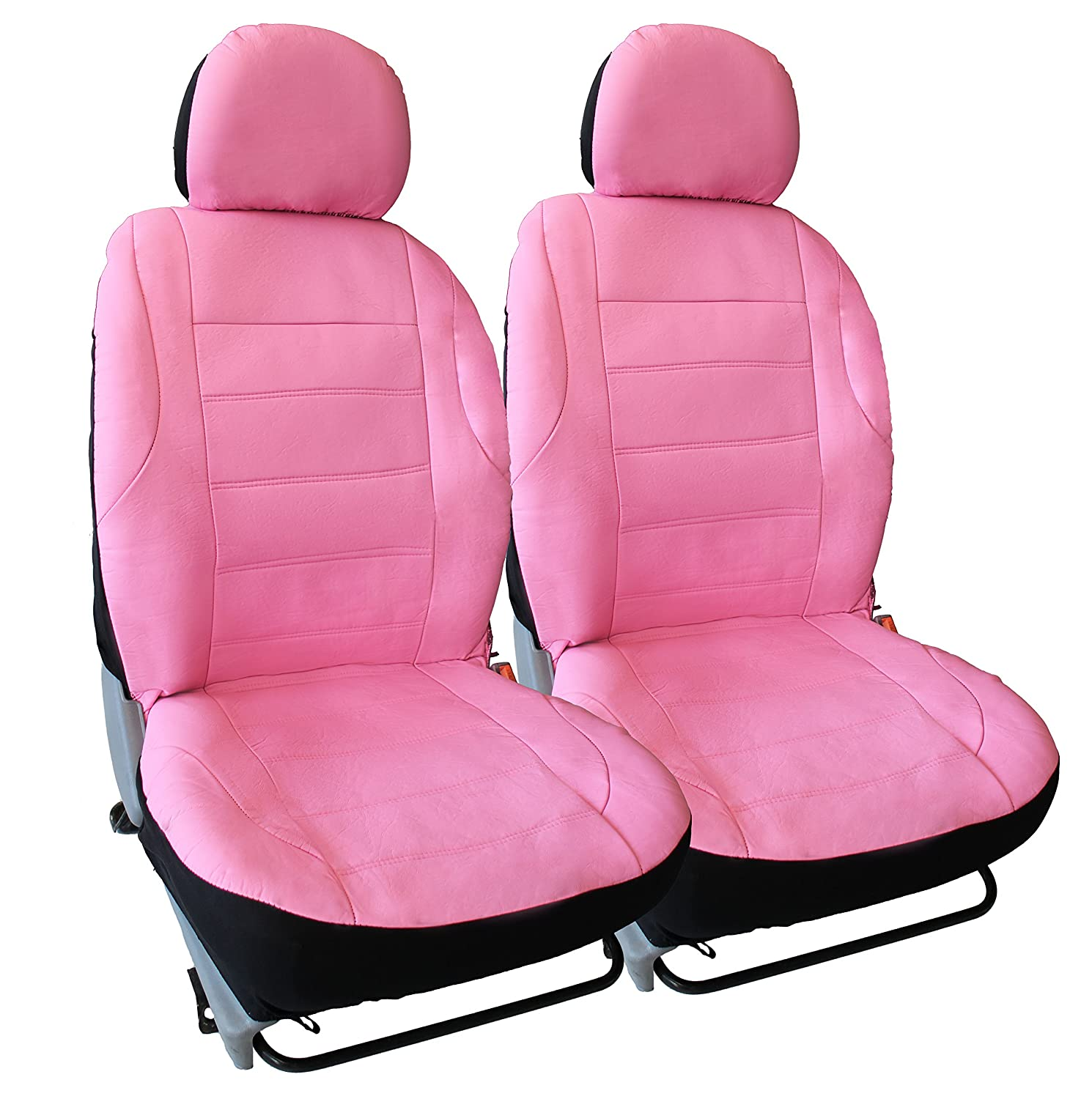 Audi A4 Full Set of Luxury PINK//BLACK Leather Look Car Seat Covers