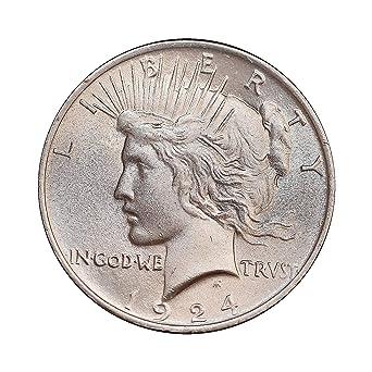 BU 1924 Peace Silver Dollar Brilliant Uncirculated