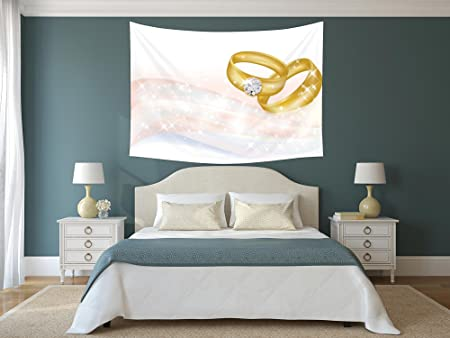 Sensational Iprint Polyester Tapestry Wall Hanging Wedding Wedding Rings Download Free Architecture Designs Scobabritishbridgeorg