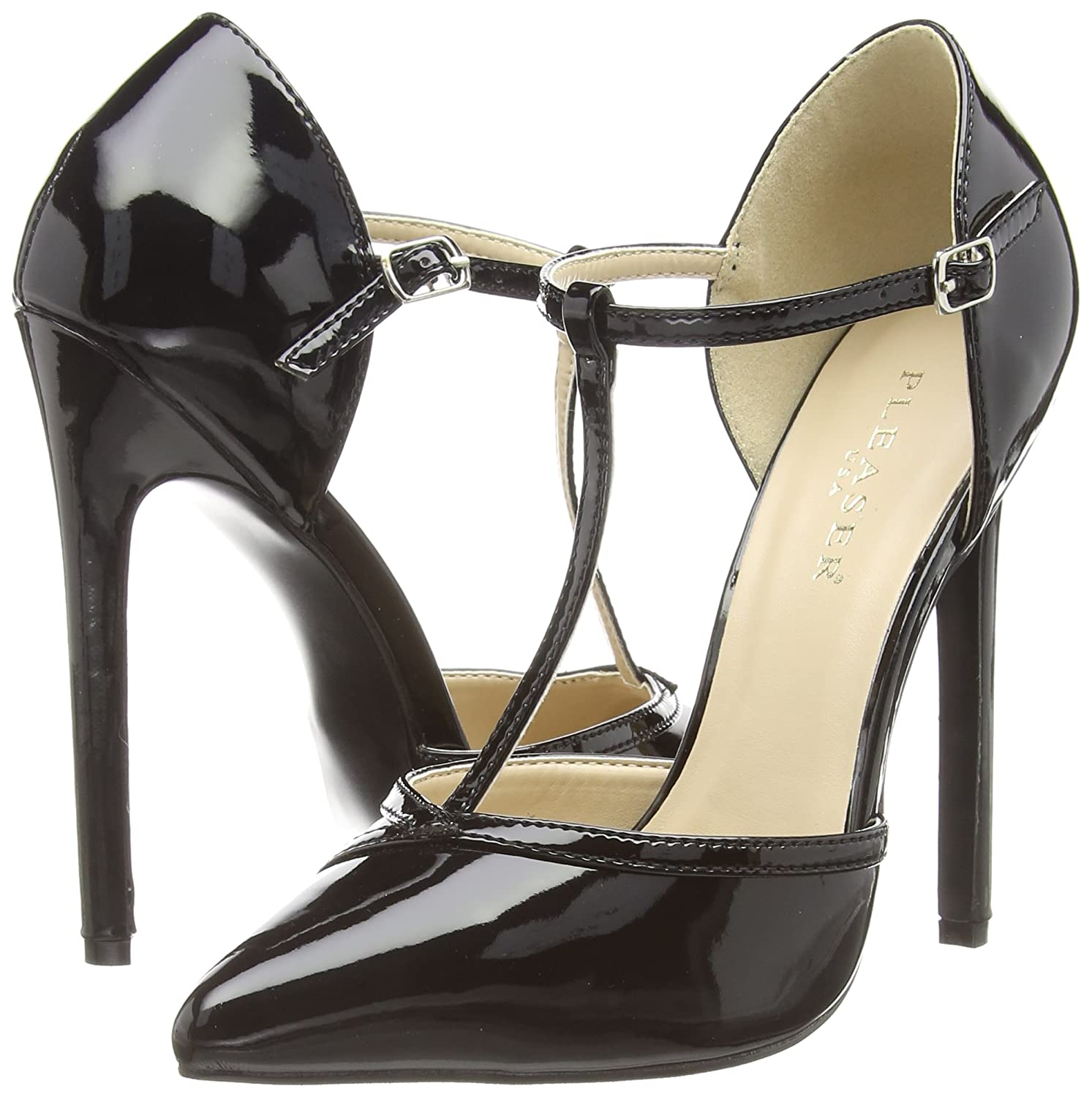 Pleaser Damens's Sexy27 B Dress Pump, schwarz Patent, 10 M US US M  Amazon ... dfe254