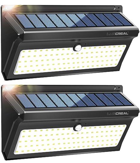 Lampade Solari Da Giardino Amazon.Lampada Solare Da Esterno 100 Led Super Luminosa Luci