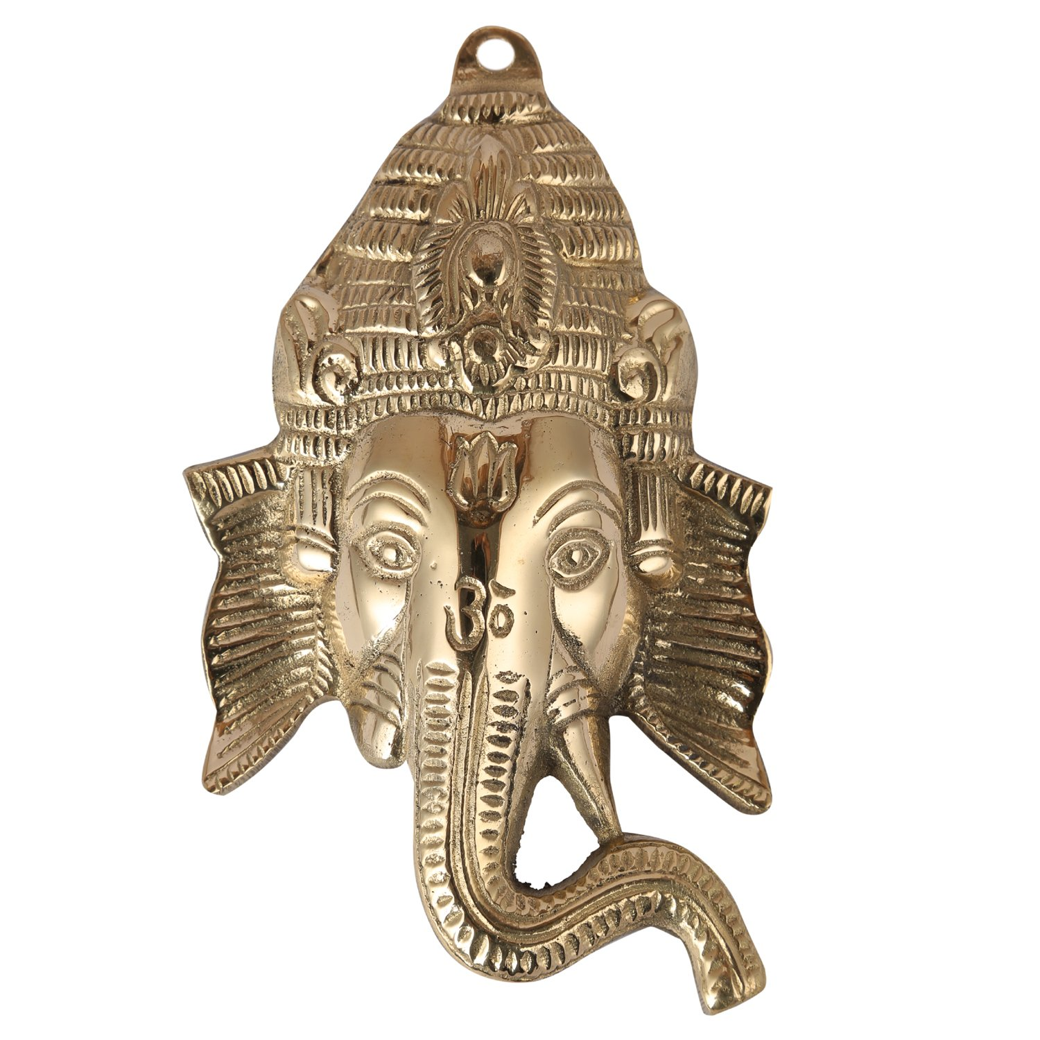 Aatm Decorative & Attractive Brass Figurine Statue Handicraft in Shape of Ganesh Face ||Best Use for Home Decoration/Gifting/ Office||