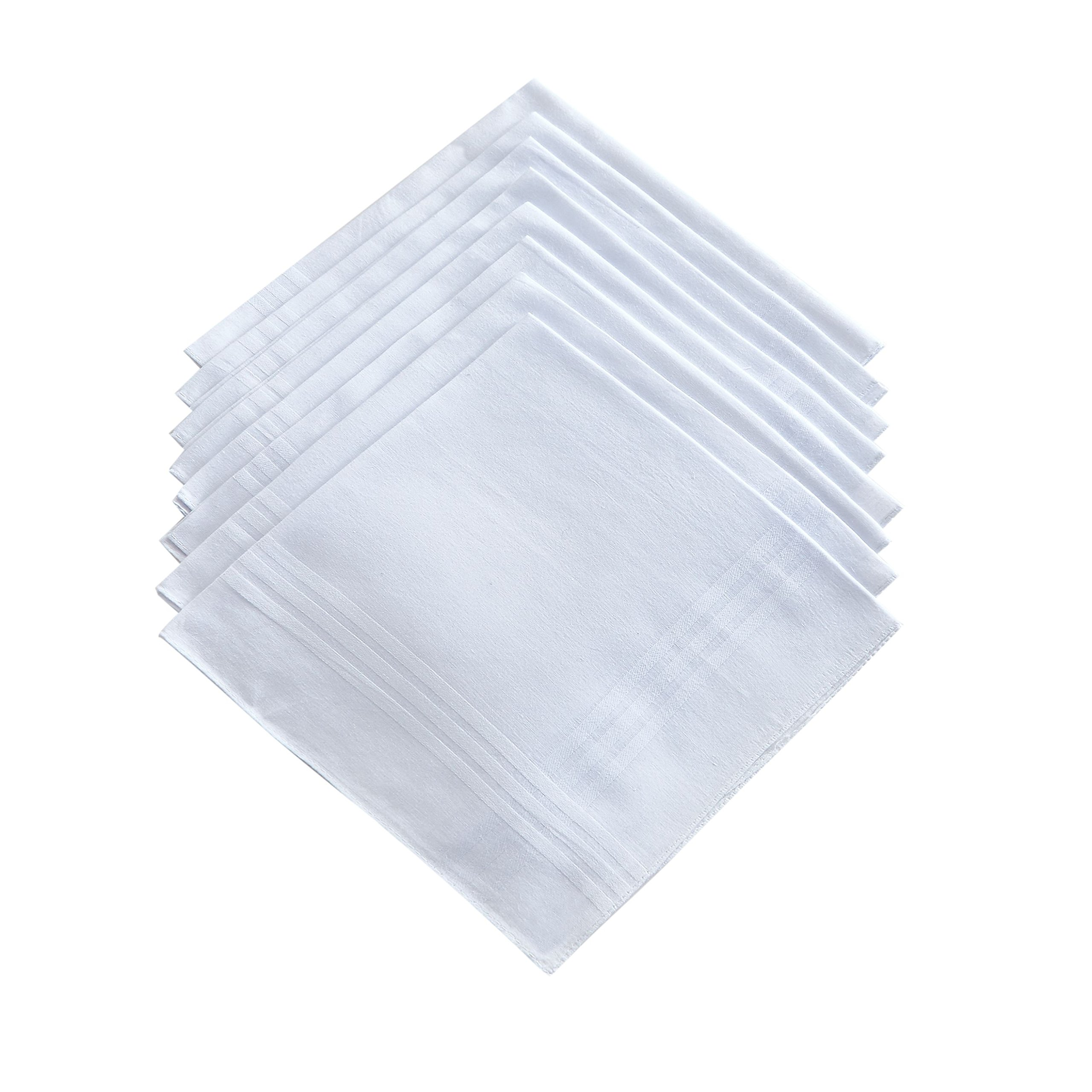 Men's Pure White 100% Cotton Handkerchief Pack Of 12 …