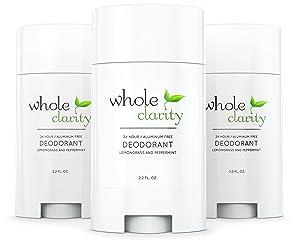 Aluminum Free Natural Organic Deodorant [Lemongrass Peppermint] for Men & Women - Vegan & Cruelty Free - High Performance - Hand Made in USA - 3.1 Oz [Multi-Pack of 3]
