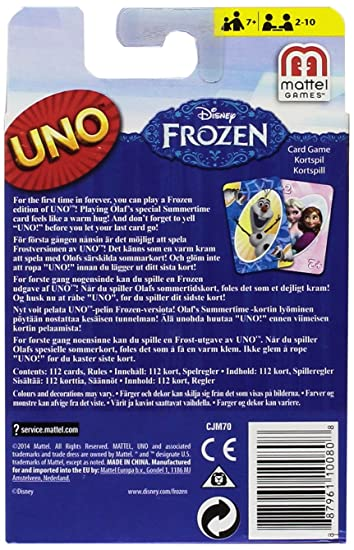 Amazon Disney Frozen Uno Card Game Toys Games