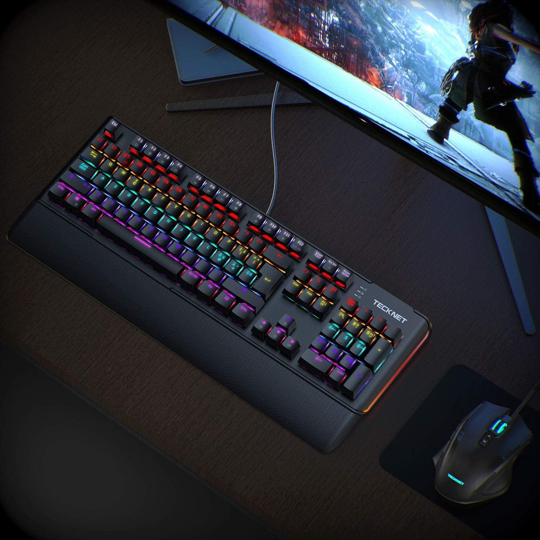 TECKNET - Teclado Gaming mecánico, Teclado con Interruptor ...